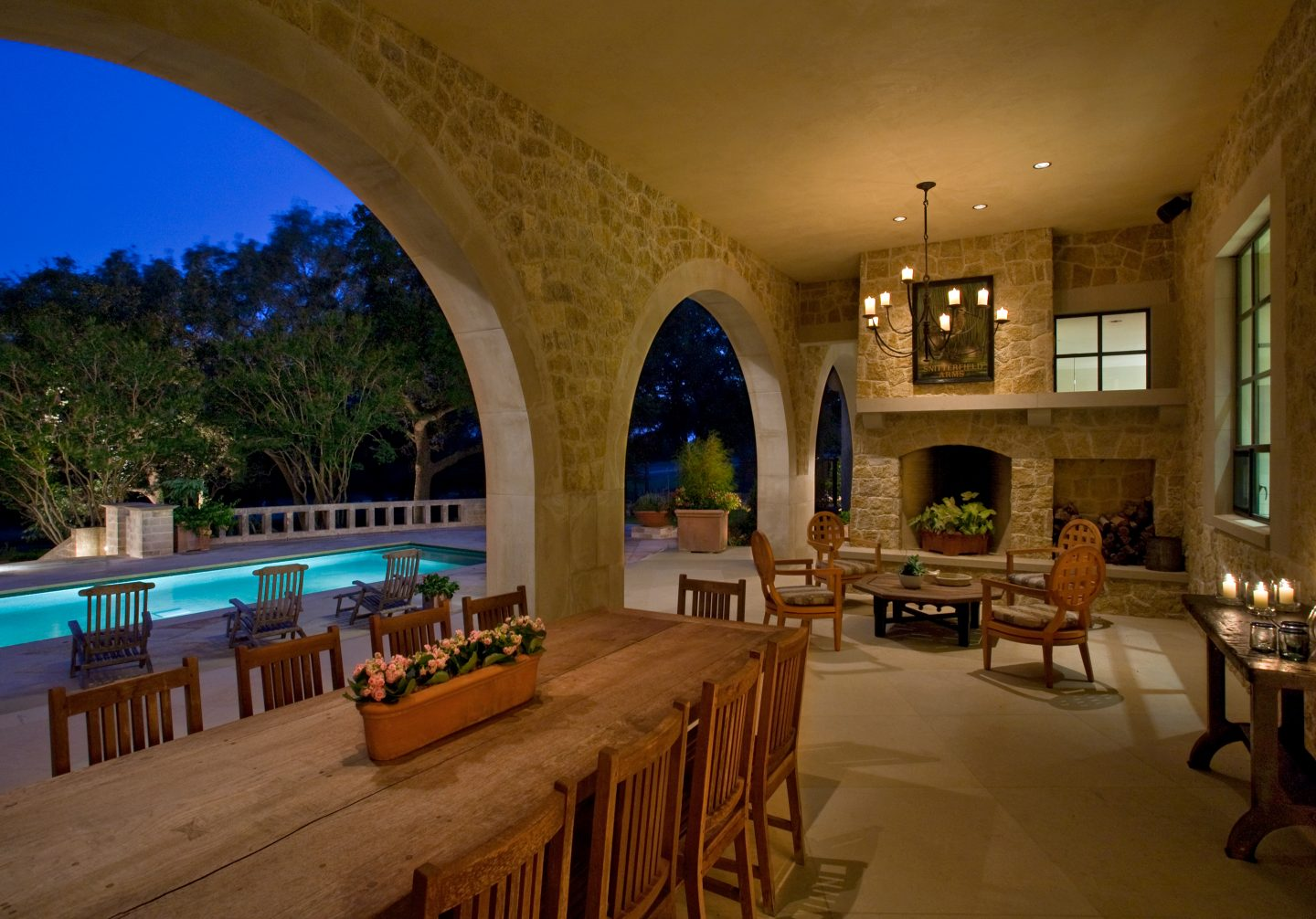 San Marcos Residence Back Porch